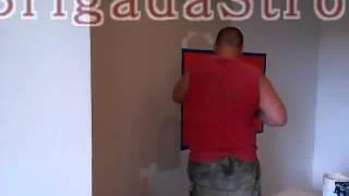 видео Покраска стен в два цвета
