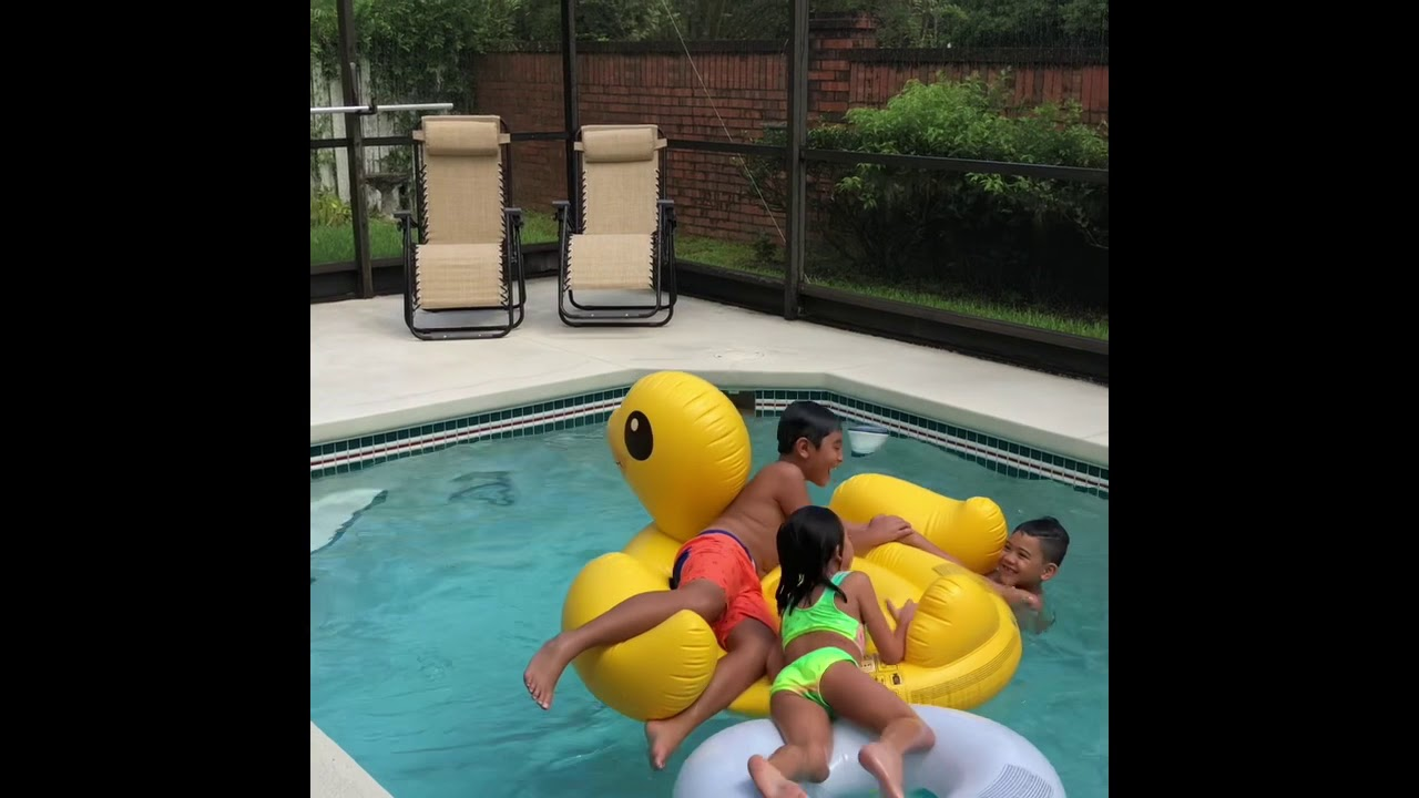 Rubber pool party - YouTube