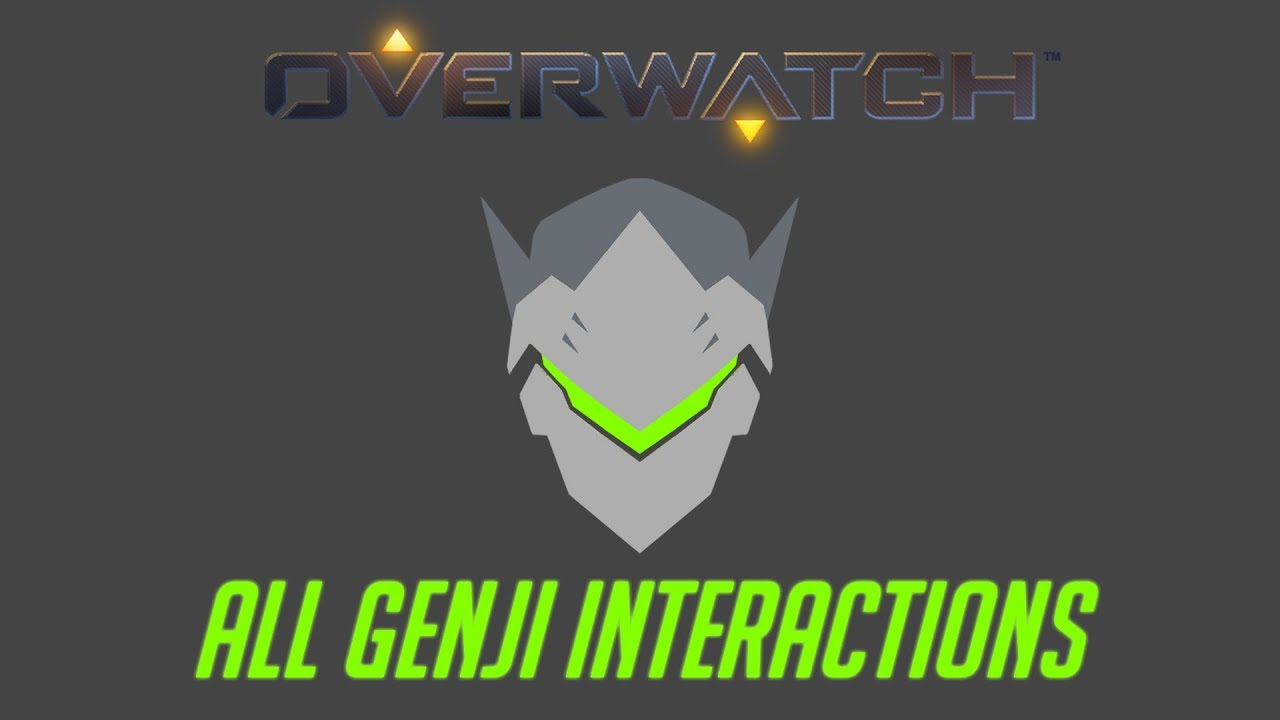 Genji Quotes Overwatch  All Genji Interactions  Unique Kill Quotes  Youtube