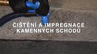 Čištění a impregnace kamenných schodů systémem Turbo Force & Finalit