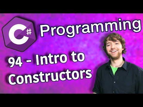 C# Programming Tutorial 94 - Intro to Constructors thumbnail