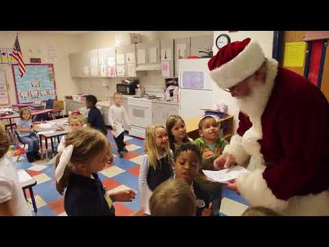 #Santa visits Tyndall Elementary School