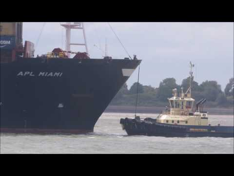 1st call of APL Miami to the Port of Felixstowe. 5th June 2017