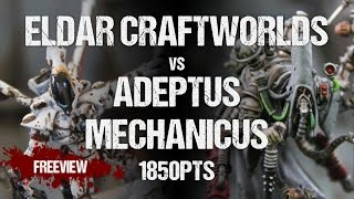 Winters SEO Collaboration Battle Report: Eldar Craftworlds vs Adeptus Mechanicus 1850pts