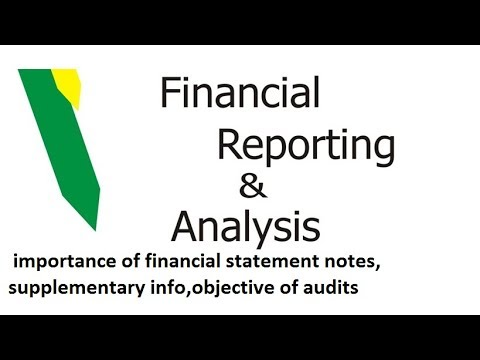 Financial reporting and Analysis for CFA level 1, importance of l disclosures, objective of audit