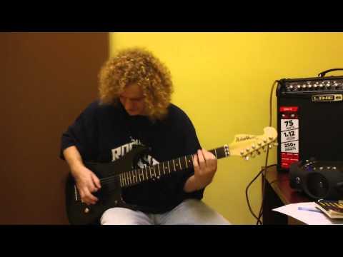 Boca Raton Guitar Teacher Laszlo @ Parkland Music Academy - Crazy Train Intro