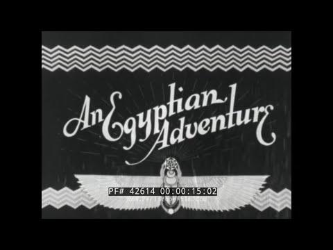 AN EGYPTIAN ADVENTURE  1930s U.S. NAVY SAILORS VISITING EGYPT COMEDY FILM 42614