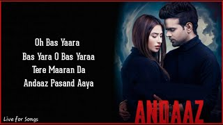 Andaaz (Lyrics) - Miel ft. Mahira Sharma   Raj Fatehpur   Gaurav Dev, Kartik Dev    New Song Andaaz