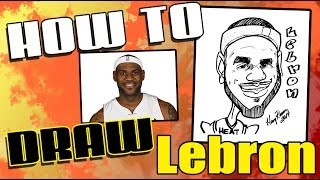 How to Draw Quick Caricature - LeBron James