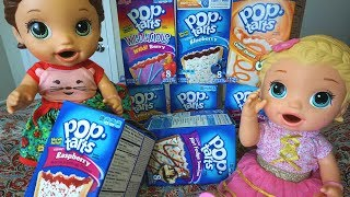 BABY ALIVE PopTart Challenge With Baby Alive Dolls!