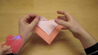 Easy Origami Heart Valentine Instructions