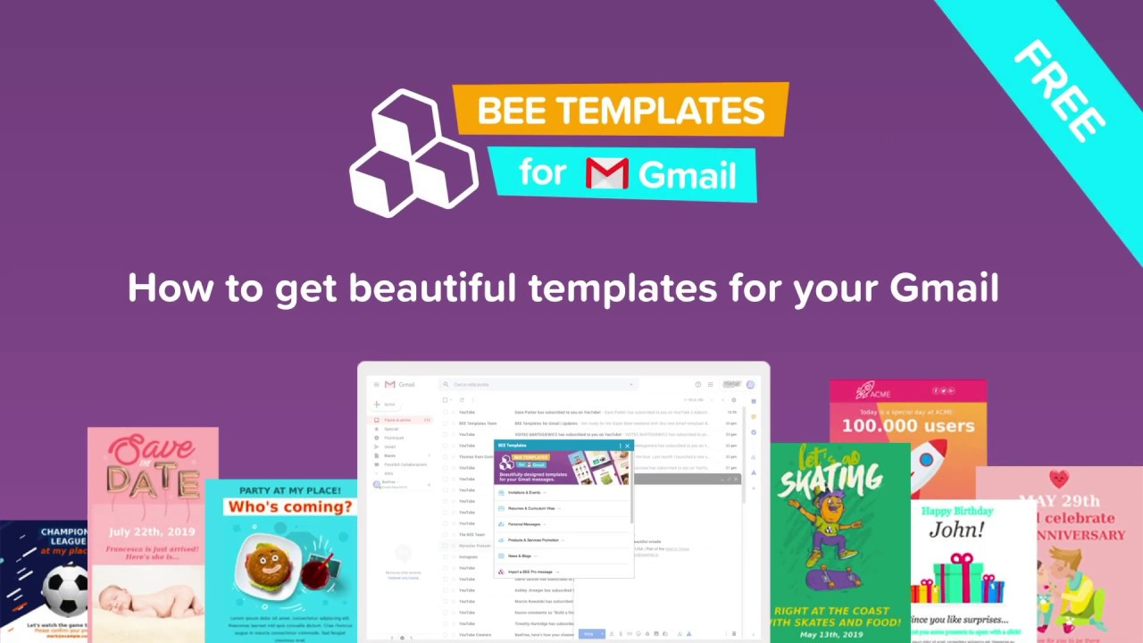 Beautiful Email Templates For Your Gmail Free Youtube