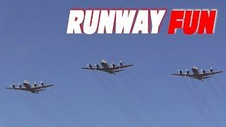 P-3C3機による迫力の祝賀飛行!!! 下総航空基地記念行事