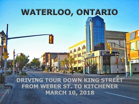 Waterloo, Ontario: Driving Tour Of Downtown Along King Street