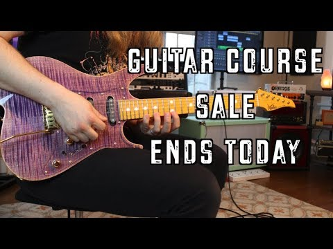 Guitar Course Sale Ends Today!