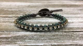 How to Make a Leather and Crystal Chain Bracelet - Urban Bling!