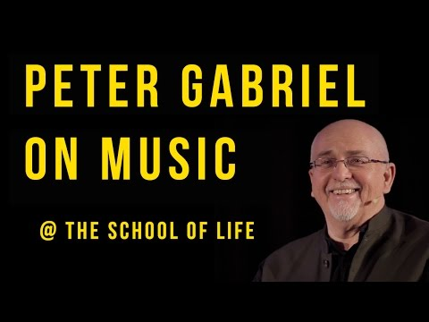 Peter Gabriel on Music