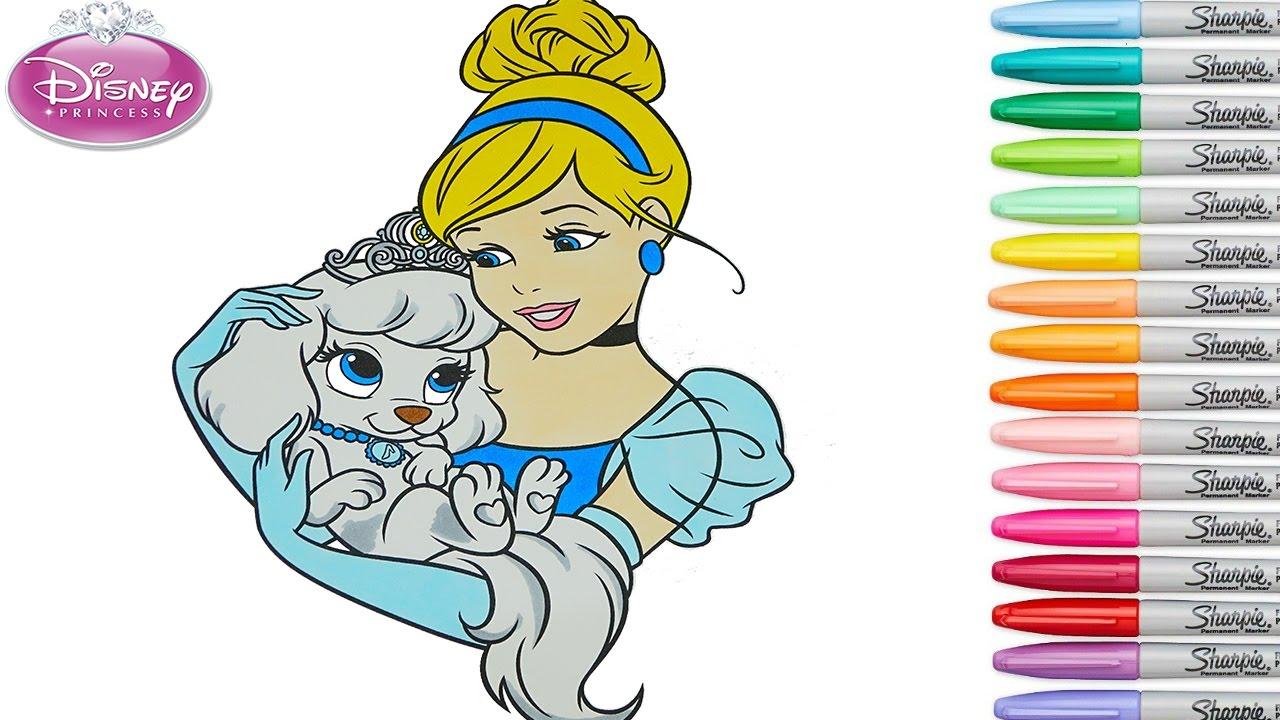 95 Disney Princess Cinderella Full Coloring Book