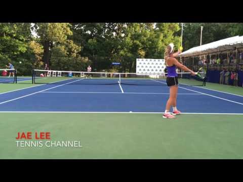 Caroline Wozniacki Practice @ Citi Open 7.18.2016 (hd)