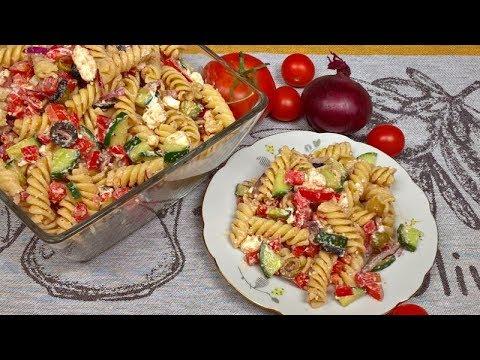Rewelacyjna Salatka Grecka Z Makaronem Na Obiad Kolacje Lub Do
