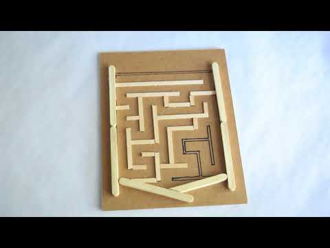 MYO - Make Your Own Magic Magnet Maze Out Of Cardboard & Popsicle Sticks