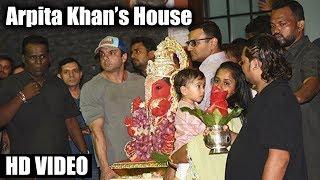 Salman Khan's Ganpati Visarjan 2017 - Arpita Khan's House - Sohail Khan, Aayush Sharma