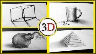 КАК РИСУЕТСЯ 3D построение  простых 3D ИЛЛЮЗИЙ(, 2016-06-05T13:08:50.000Z)