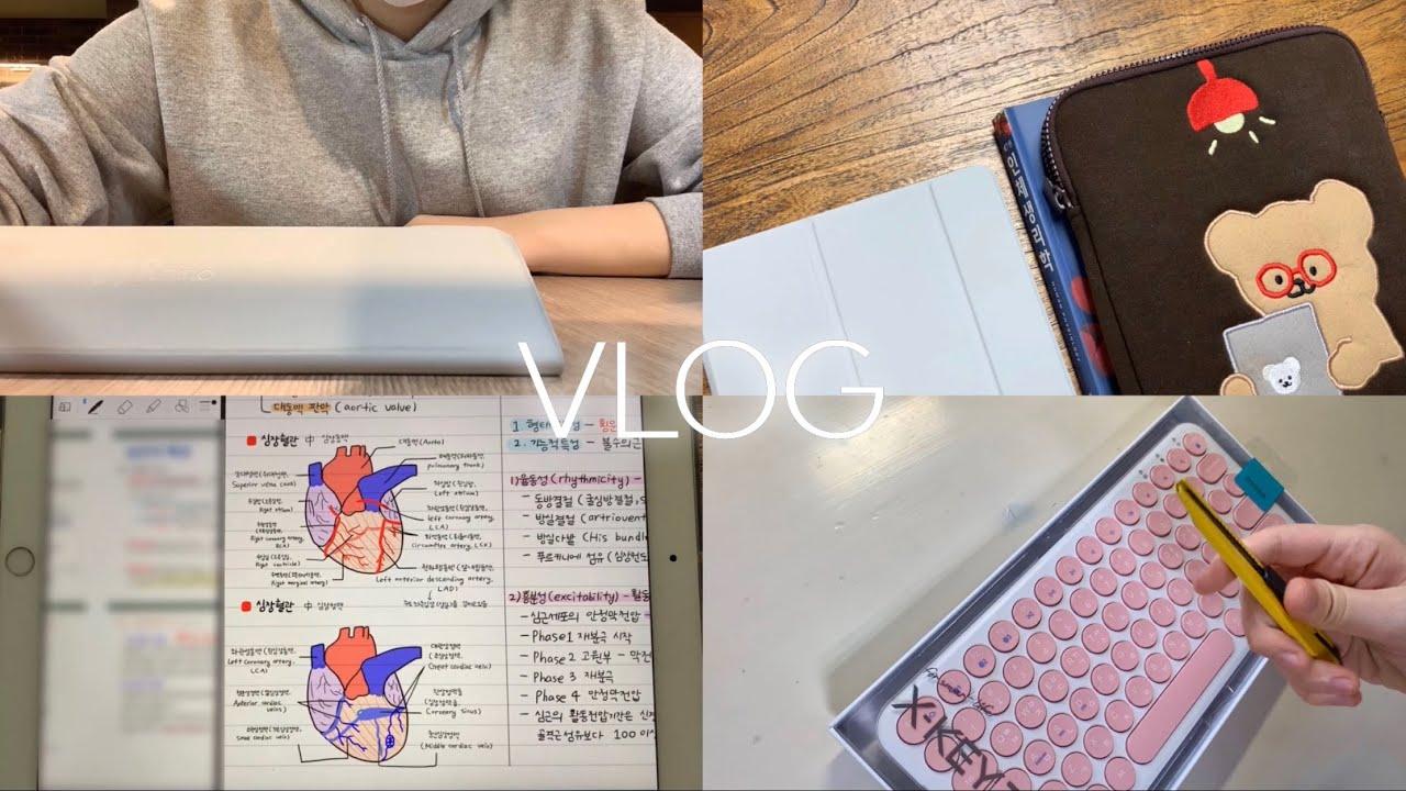 [VLOG] ✨간호학과 시험기간 브이로그 | 생리학 노트 정리하기 | 아이패드 블루투스 키보드 추천 💟 | 간호대생 브이로그 💉