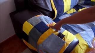 Passo a passo- Capa para braço de sofá de retalhos