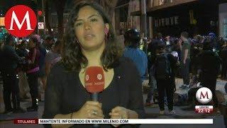 Agreden a reportera de MILENIO en manifestación de mujeres