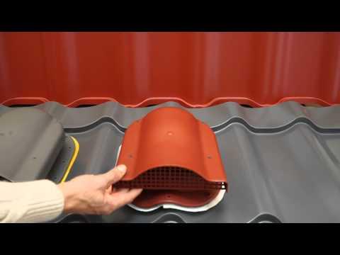 видео: Вентиль (аэратор) wpbn для низкого профиля металлочерепицы (монтеррей). kronoplast.