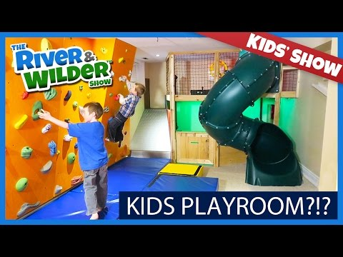 KIDS PLAYROOM WITH INDOOR SLIDE AND CLIMBING WALL | KIDS TV