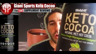 Keto Hot Chocolate! Giant Sports Keto Cocoa REVIEW
