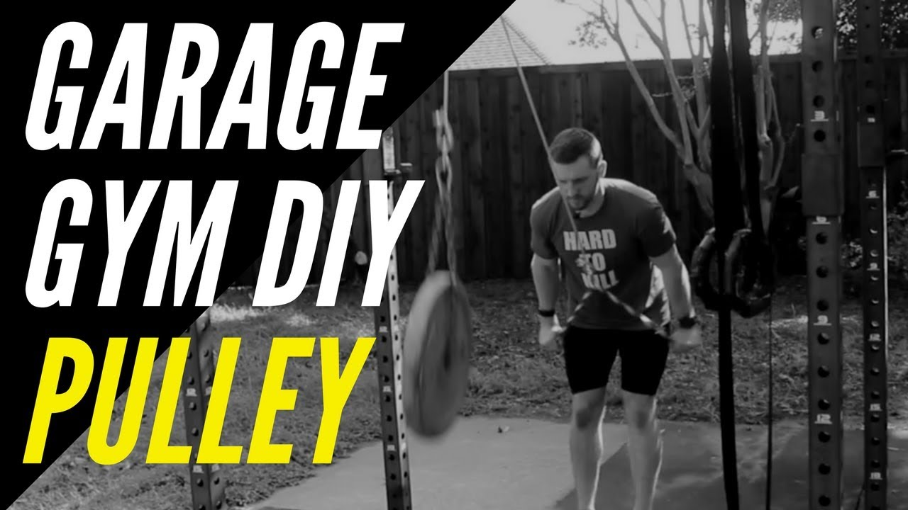 Garage gym diy pulley system youtube