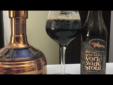 Dogfish Head Utopias Barrel-Aged World Wide Stout #848