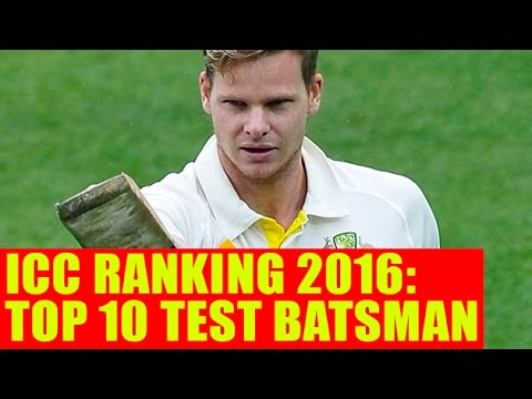 Top 10 Test Batsman Rankings 2016 - ICC Player Rankings | Cricket Fan Club