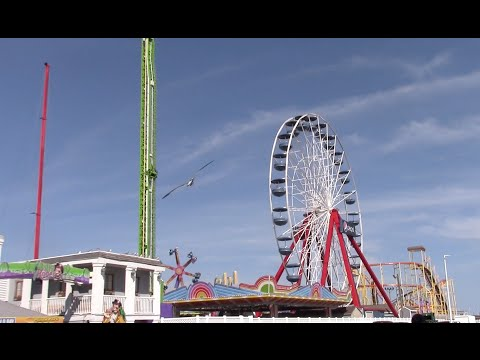 Jolly Roger at the Pier August 2016 Ocean City, Maryland Footage