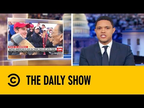 MAGA Hat Kid Vs Native American | The Daily Show with Trevor Noah