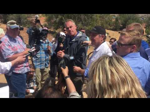 Secretary of the Interior Ryan Zinke visits Bears Ears National Monument