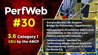 Extracorporeal Life Support (ECMO), Electrolyte Disturbances, Thrombectomy Demonstration