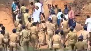 Police laathi charge aluva