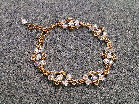 Bracelet With Sparkling Crystal Handmade Jewelry Ideas 195