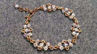 Bracelet with sparkling crystal - Handmade Jewelry Ideas  195