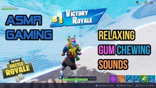 ASMR Gaming | Fortnite Relaxing Gum Chewing Sounds ★Controller Sounds + Whispering☆