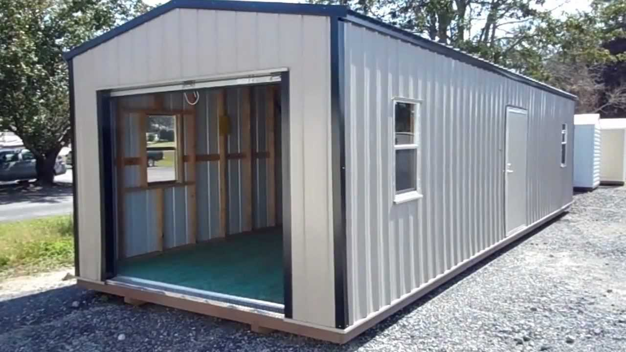 Temporary Garages For Large Trucks : Cool sheds large portable buildings explained youtube
