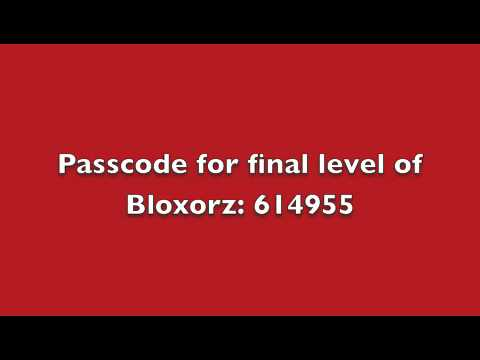 passcodes for bloxorz