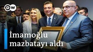 Ekrem İmamoğlu mazbatasını aldı - DW Türkçe