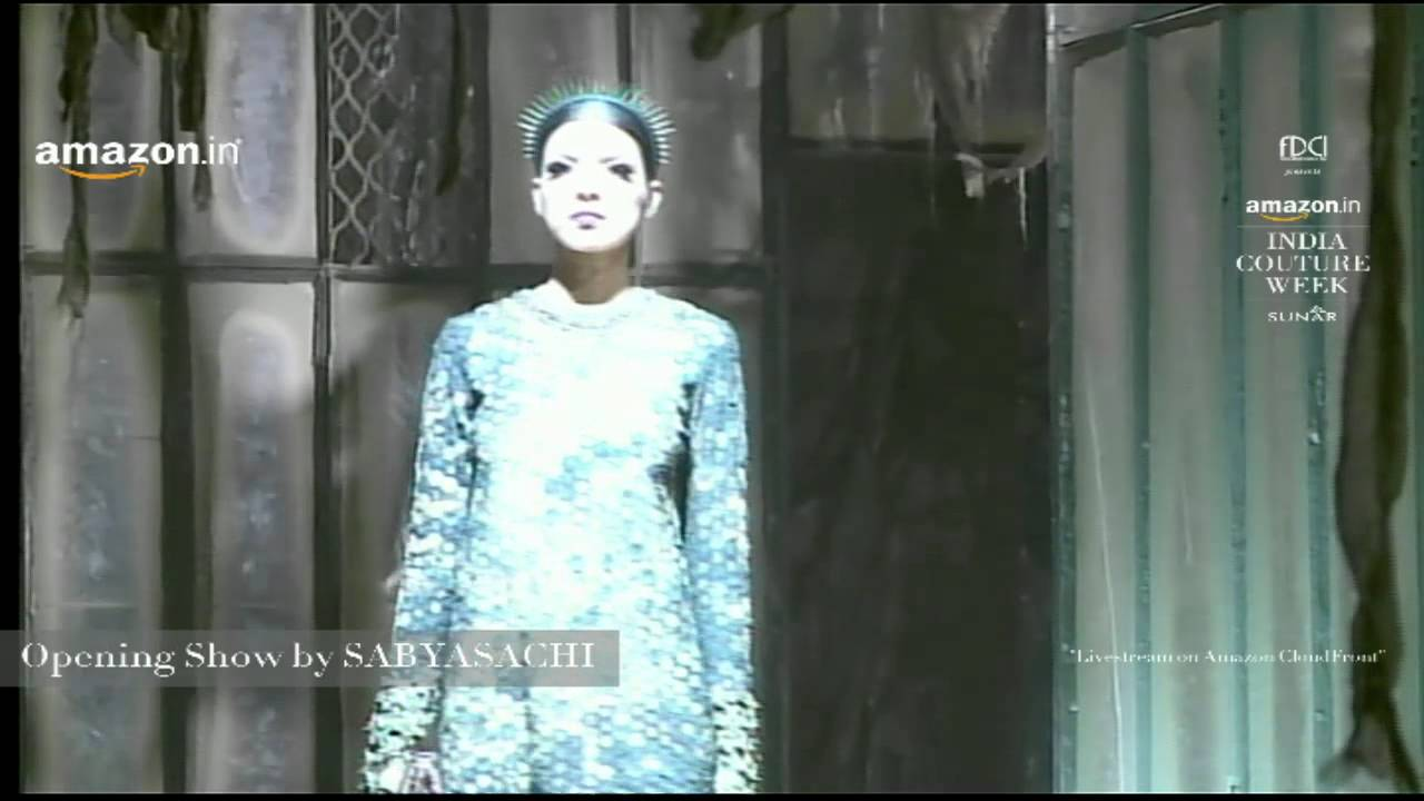 Sabyasachi Live at Amazon India Couture Week 2015 feat. Christian Louboutin  - YouTube a0e6c24bf