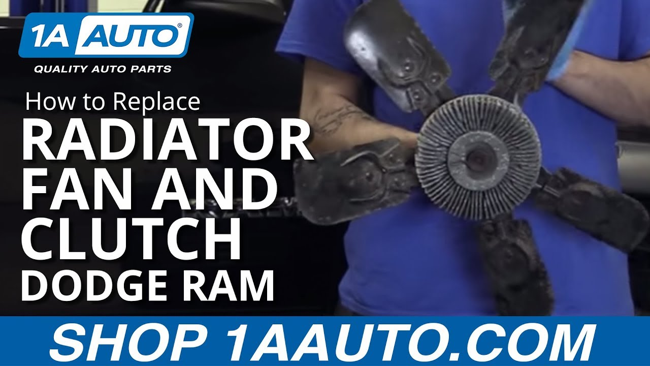 hight resolution of how to replace radiator fan and fan clutch 02 08 dodge ram