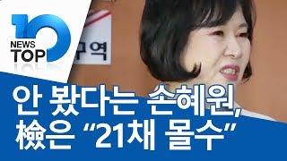"""안 봤다는 손혜원, 檢은 """"21채 몰수"""""""